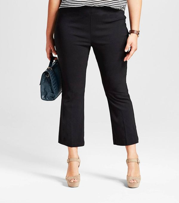 Who What Wear Plus Size Cropped Flare