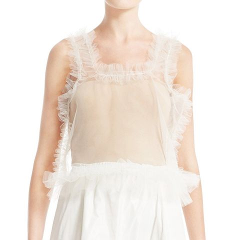 Sid Frilled Tulle Crop Top