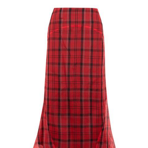 Ethan Plaid Midi Skirt
