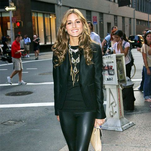 The History of Leggings: Olivia Palermo in 2008