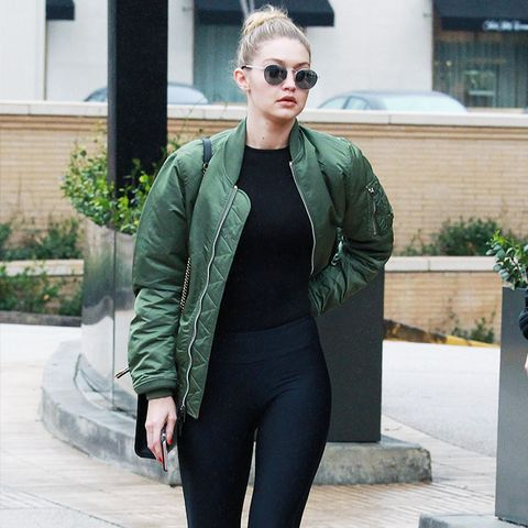 The History of Leggings: Gigi Hadid in 2015
