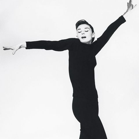 The History of Leggings: Audrey Hepburn 1956