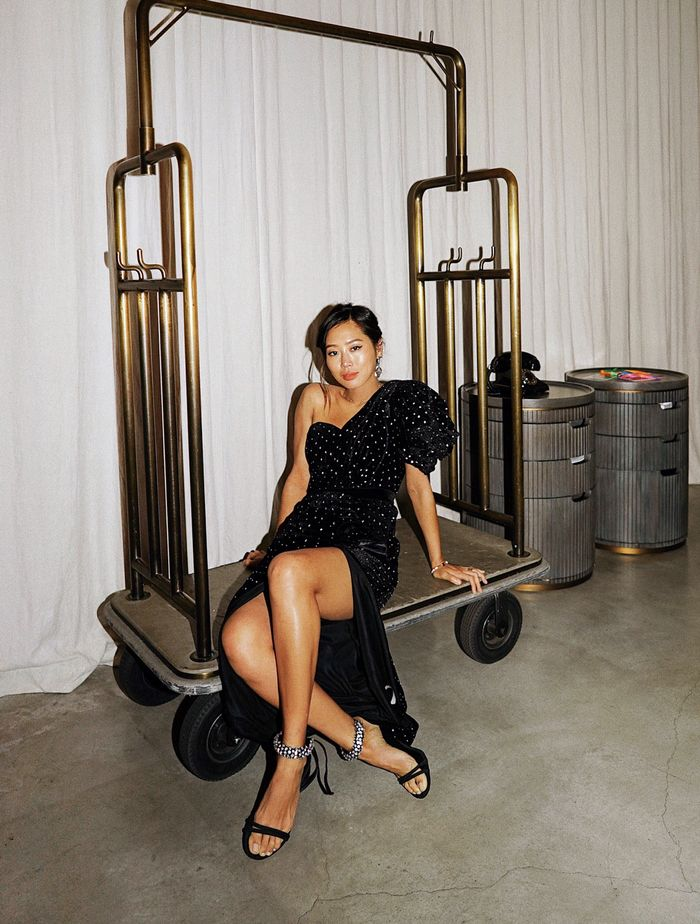 Little black dress: Aimee Song proves LBDs don't need to be plain