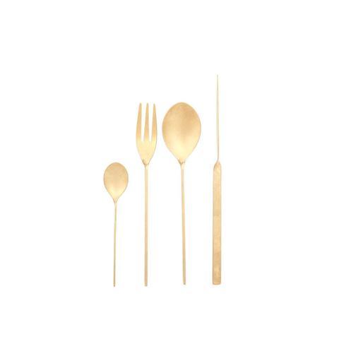 Stonewashed Golden Flatware