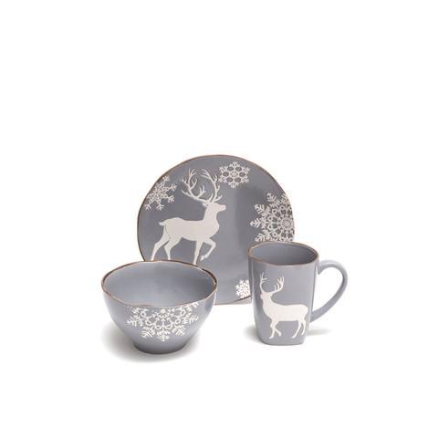 Grey Reindeer Dinnerware