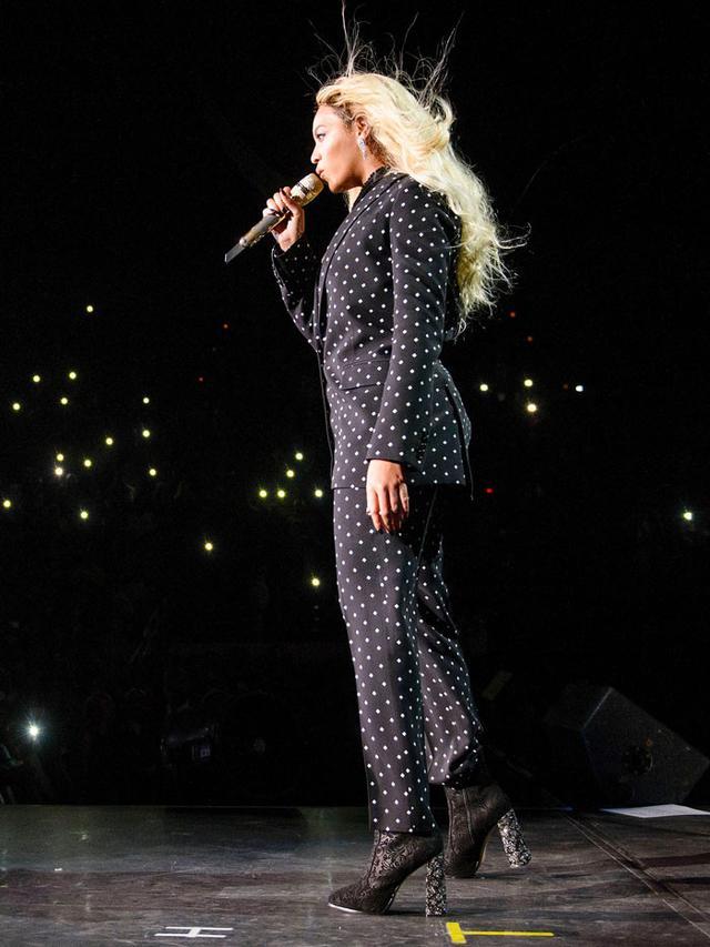 On Beyoncé:Sophia Webster Kendra Brocade Booties ($750).