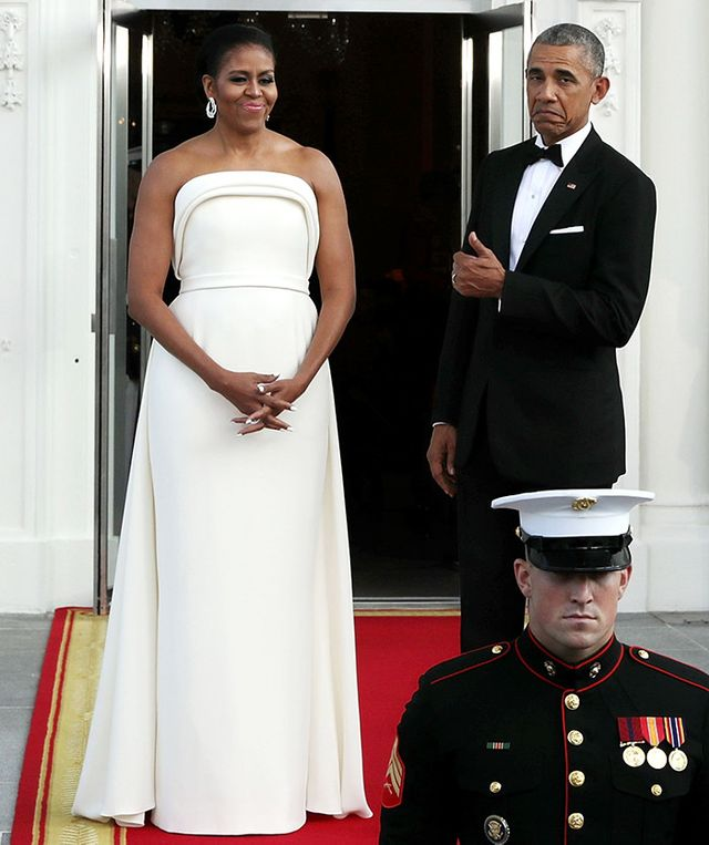 Michelle Obama wearing Brandon Maxwell gown