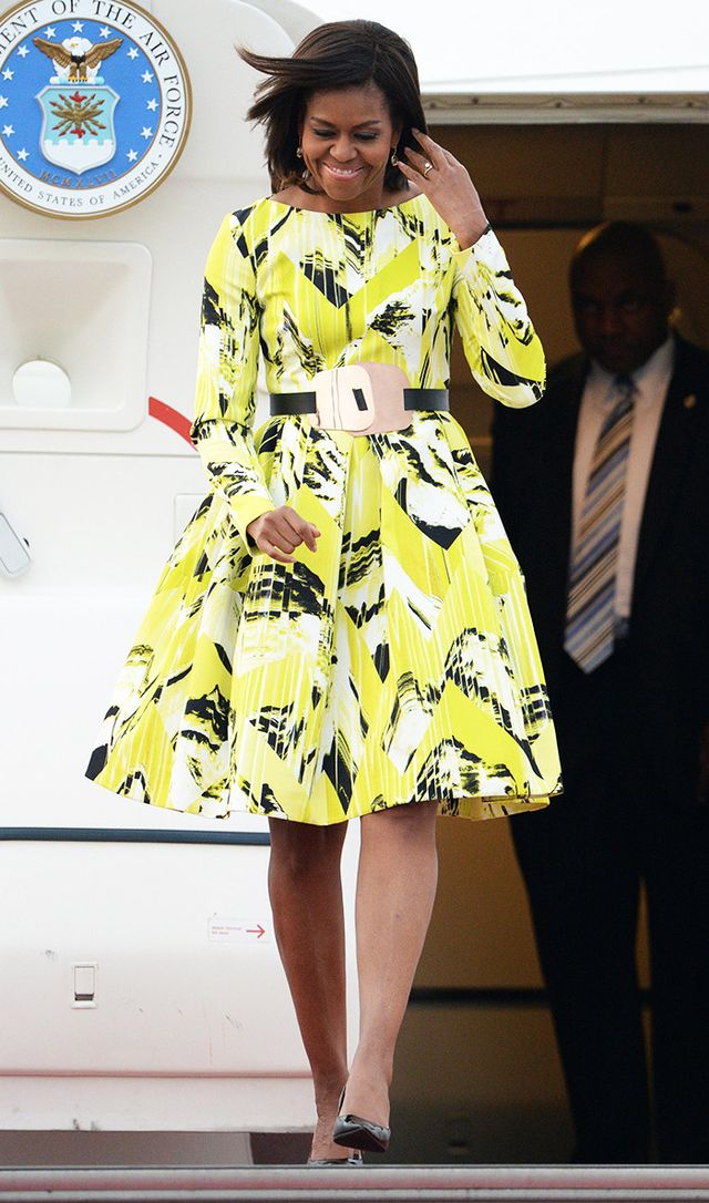 Michelle Obama wearing Kenzo dress