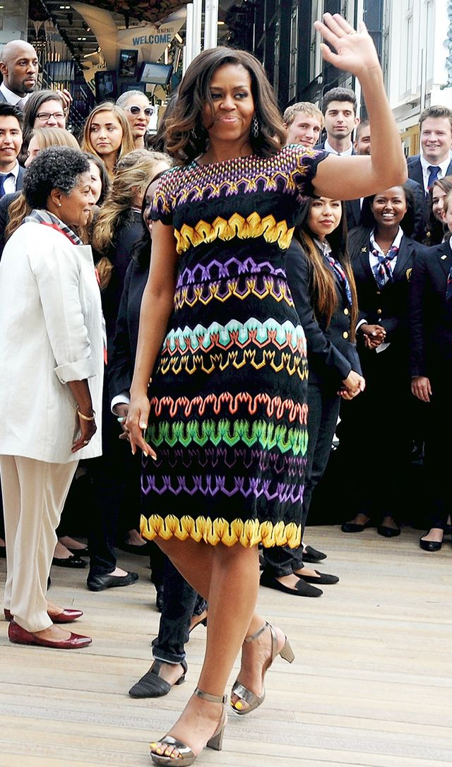 Michelle Obama wearing Missoni dress