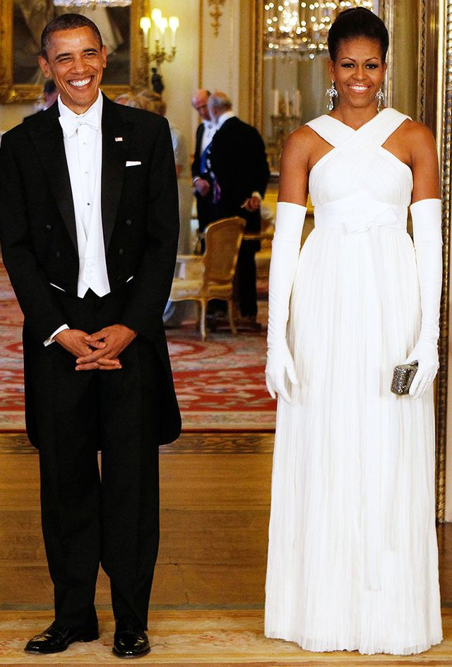Michelle Obama wearing Tom Ford gown