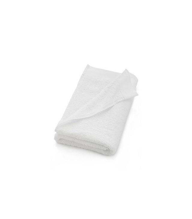 Crate and Barrel Egyptian Cotton White Bath Towel