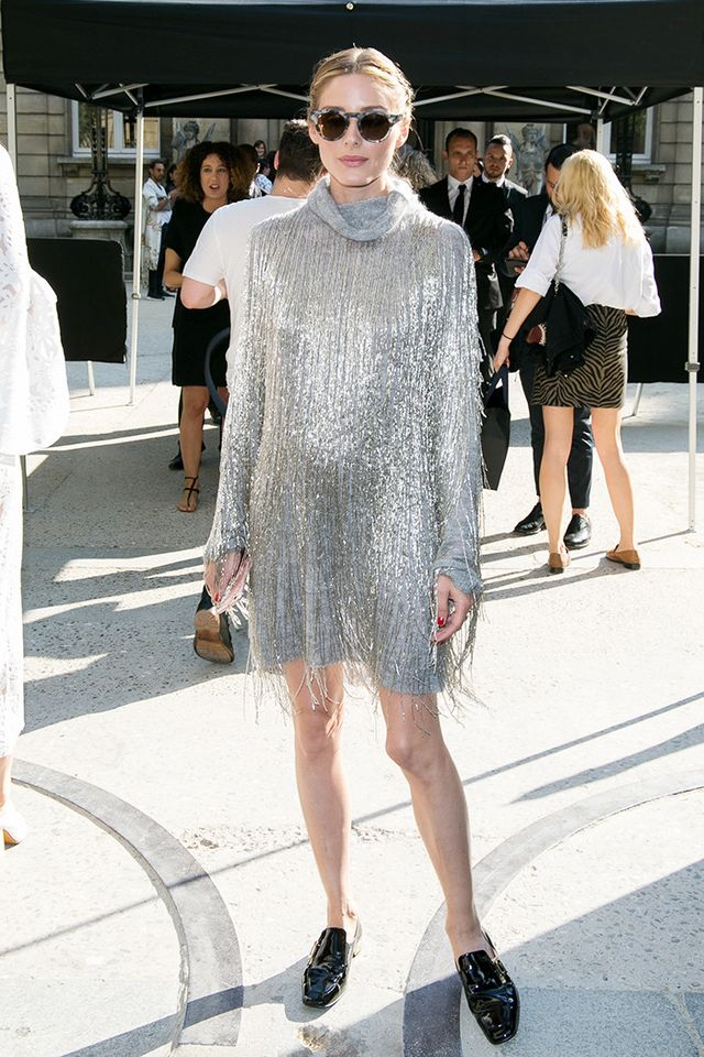 If you're looking for the ultimate party frock, go for a fringe style like Olivia's. Bonus points if you test out a metallic version, too!