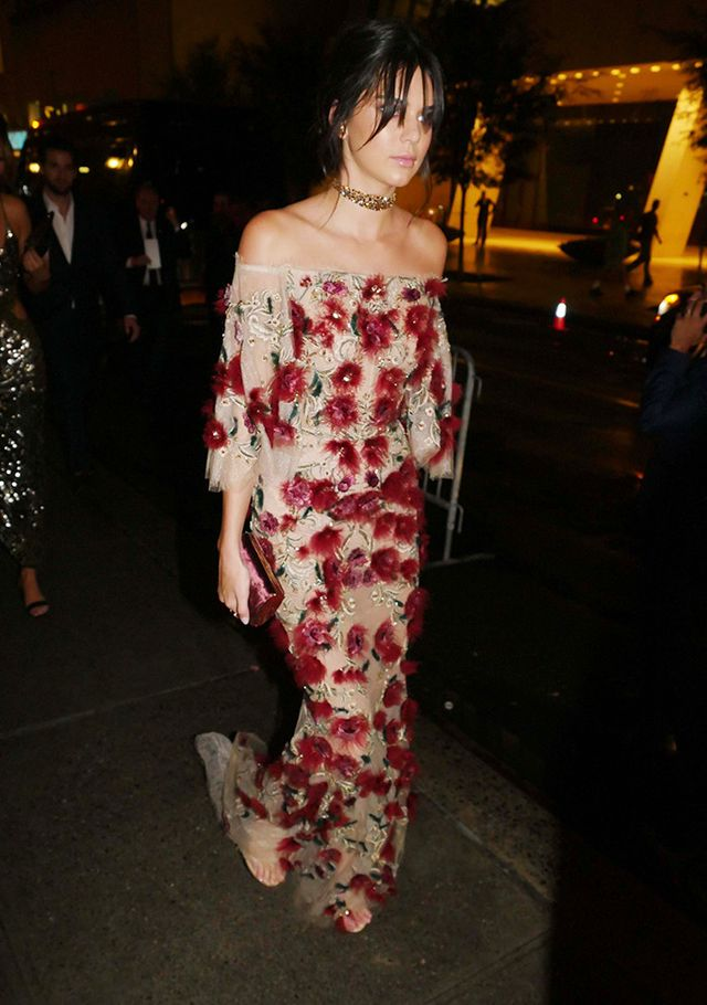 If you have a more formal event to attend, try a longer silhouette in a beautiful print like Kendall's.