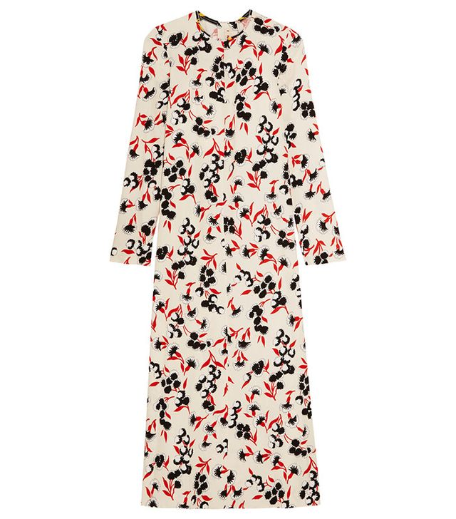 Marni Floral-Print Crepe Maxi Dress