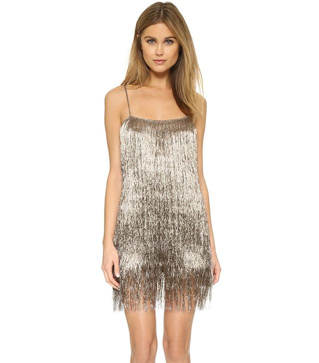 Rachel Zoe Della Fringe Metallic Mini Dress