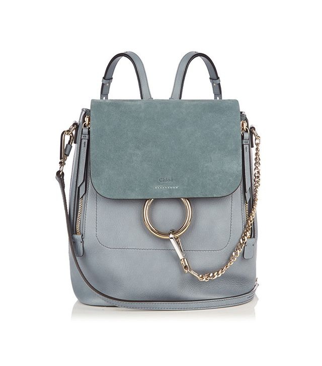 Chloé  Faye Medium Suede and Leather Backpack