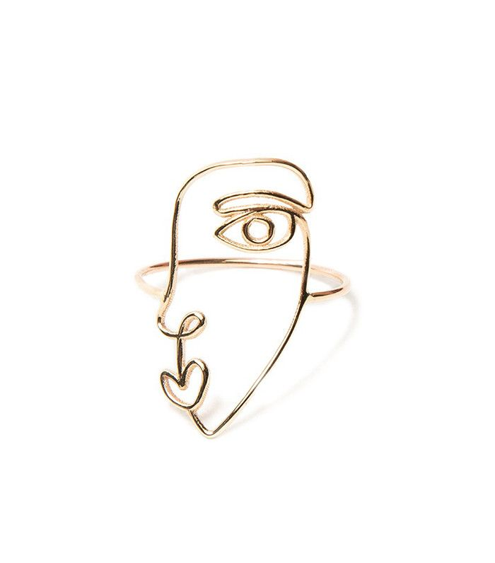 Face Ring in 14K Gold Sarah & Sebastian
