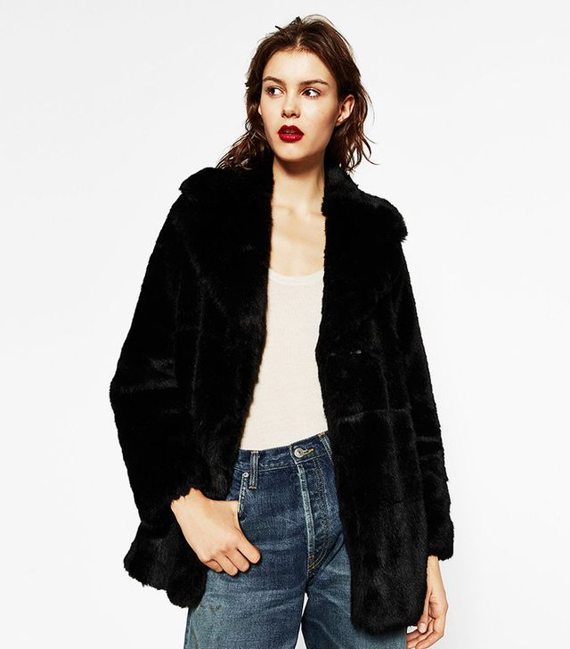Zara Short Faux Fur Coat