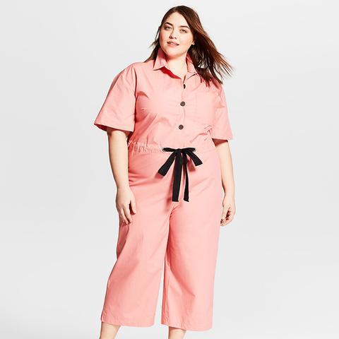 Short Sleeve Belted Jumpsuit