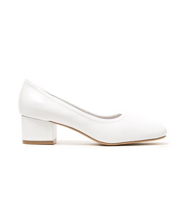 Jeffrey Campbell Bitsie in White Leather
