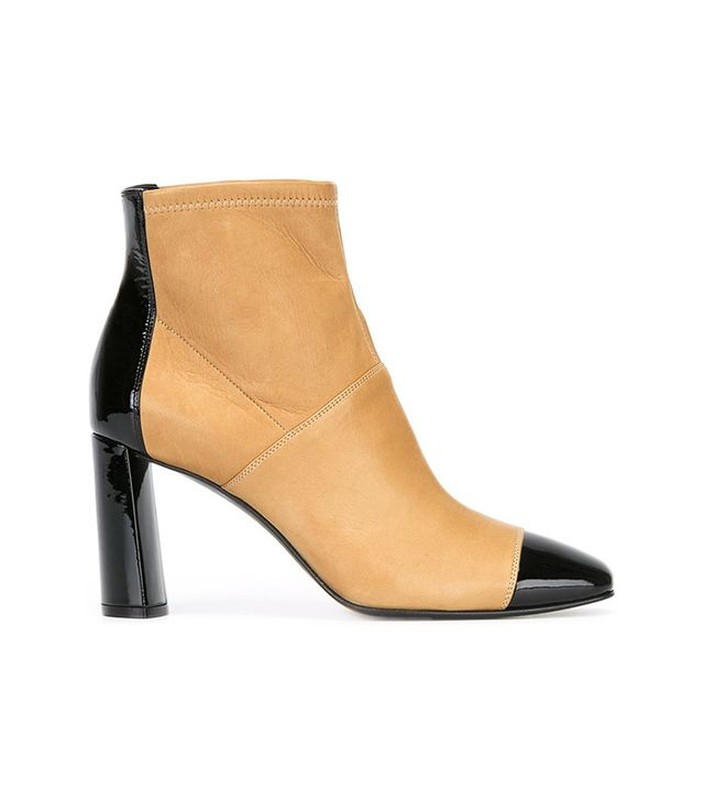 Casadei Two Tone Ankle Boots