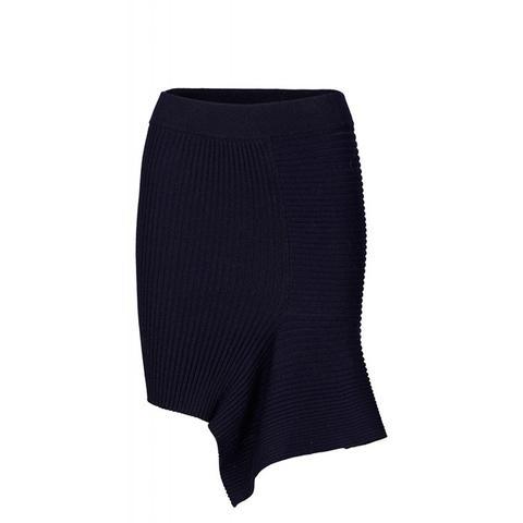 Ribly Drape Skirt Rib Knit Drape Skirt