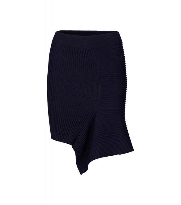 Designers Remix Ribly Drape Skirt Rib Knit Drape Skirt