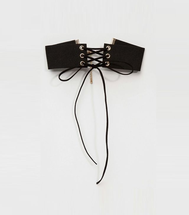 ASOS Lace Up Choker Necklace