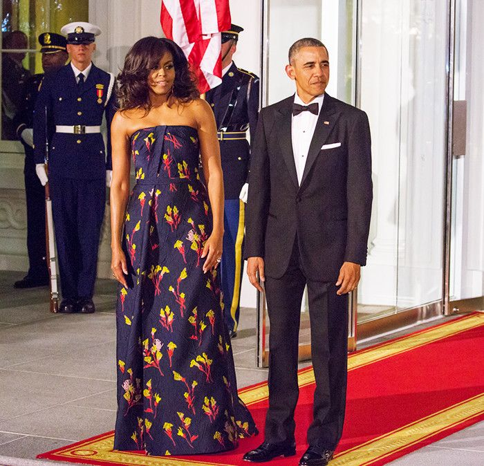 Michelle Obama wearing Jason Wu gown