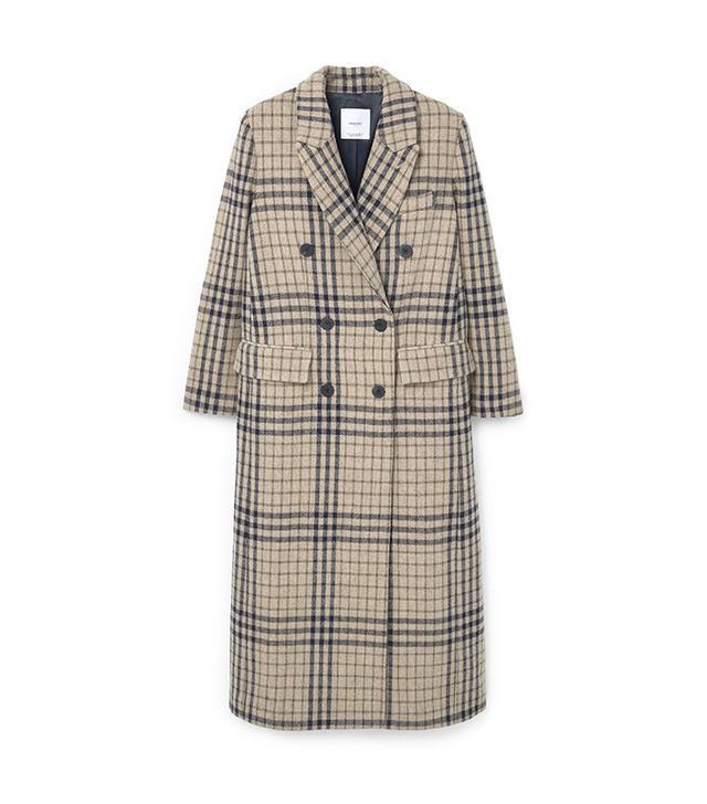 Mango Check Wool-Blend Coat