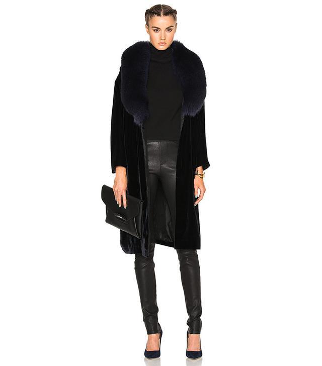 The Perfext Penelope Fur & Velvet Jacket