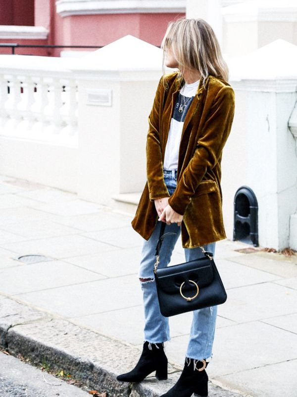 Style Notes: Dishing out a masterclass in how to do velvet like a tomboy, Lucy Williams of Fashion Me Now has just sorted our day-to-night party look for the rest of the year.