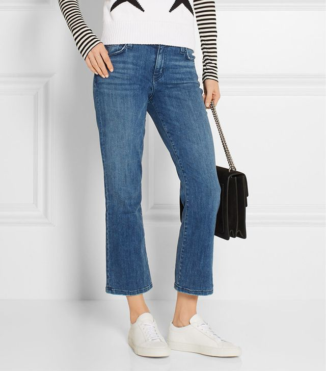 Current/Elliott The Kick Cropped-Flare Jeans