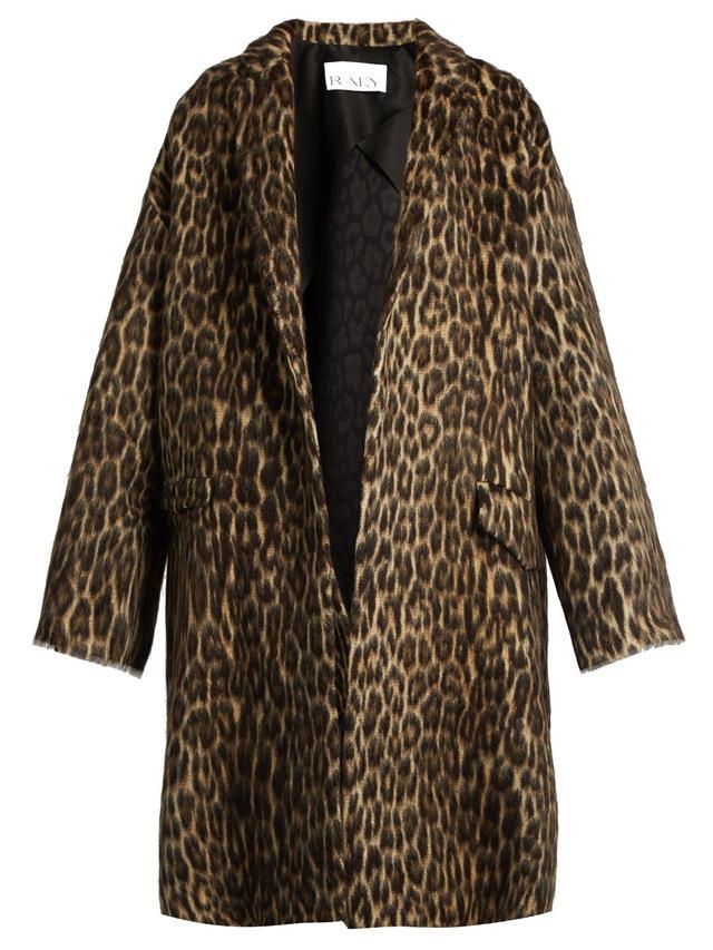 Raey Leopard-Print Blanket Coat