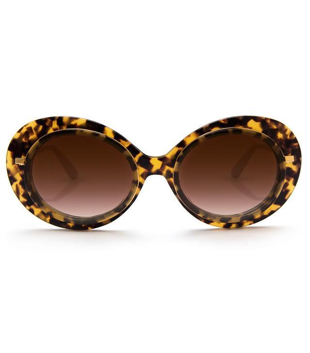 Krewe Iris Blonde Tortoise 24K Sunglasses