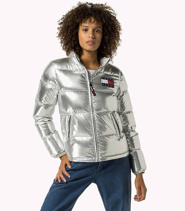 Tommy Hilfiger Silver Down Puffer Jacket