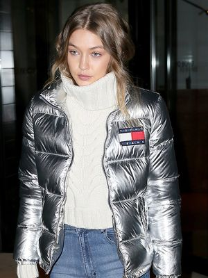 Gigi Hadid Makes a Case for Metallics