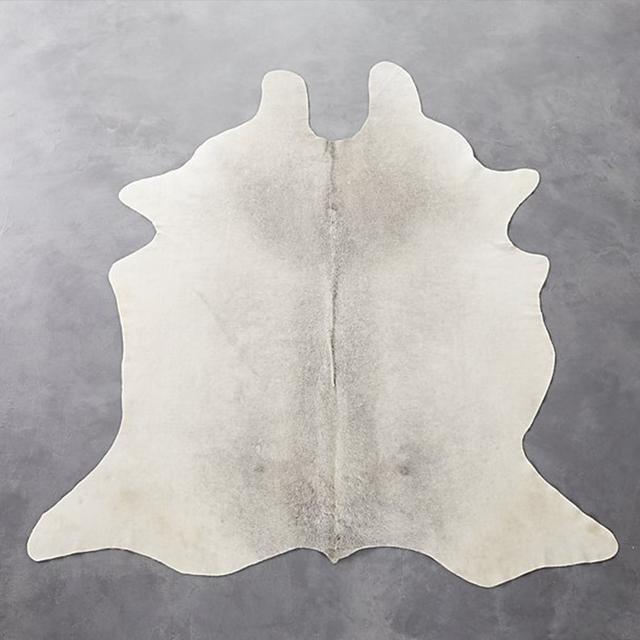 CB2 Cowhide Grey Rug