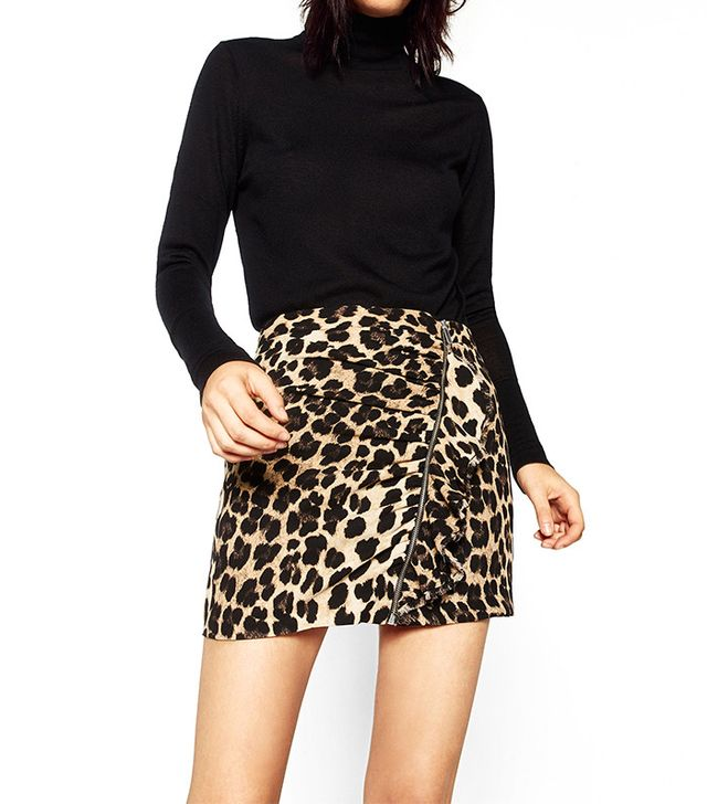 Zara Animal Print Mini Skirt
