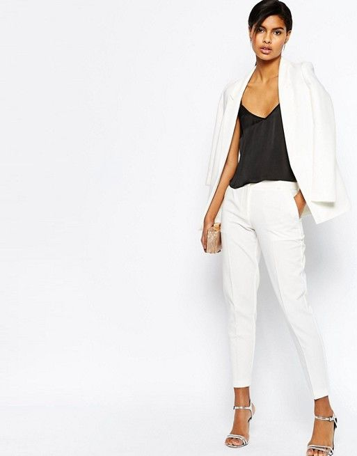 ASOS Slim Tailored Jacket ($63) and Ankle Grazer Cigarette Trousers ($42)