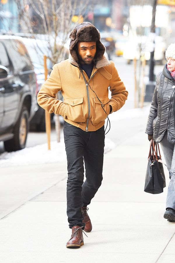 Shearling Coat + Hat + Knit + Trousers + Boots