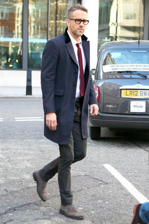 Overcoat + Suit + Lace-Up Boots
