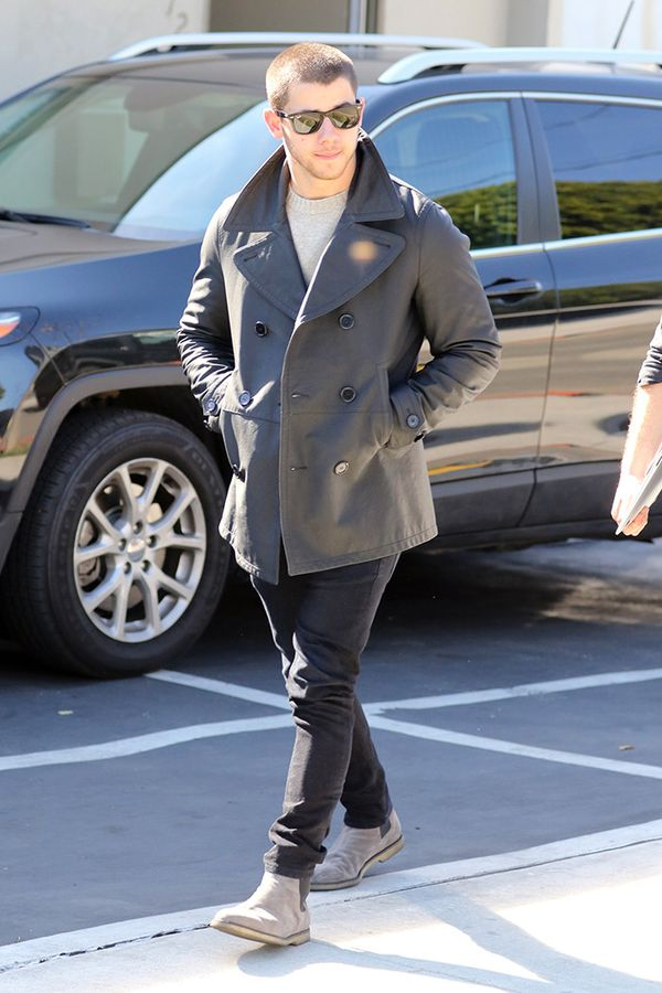 Peacoat + Sweater + Jeans + Boots