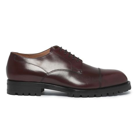Cap-Toe Leather Derby Shoes