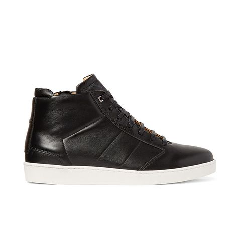 Lennon Panelled Leather High-Top Sneakers