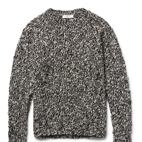 Melange Wool-Blend Sweater