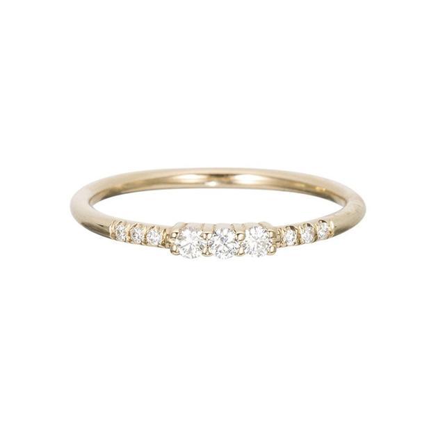 Jennie Kwon Three Diamond Equilibrium Ring