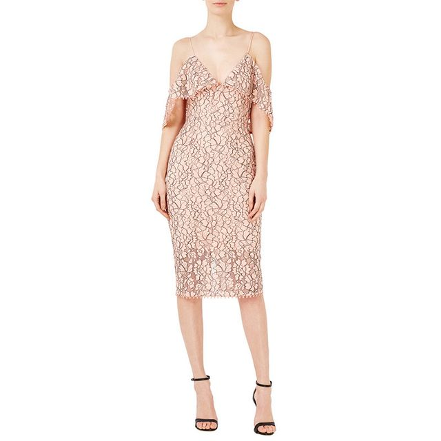 N/Nicholas Floral Lace Pencil Dress