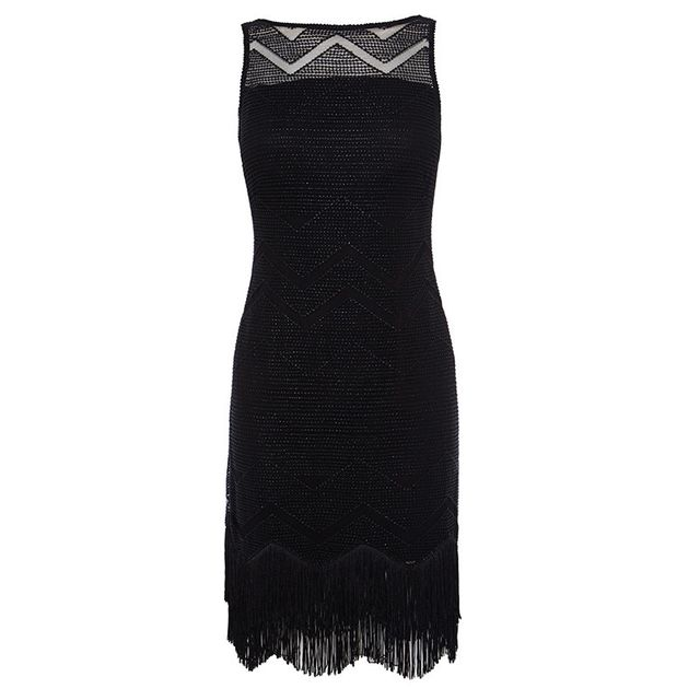 Karen Millen Zig-Zag Fringe Dress