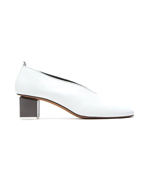 Gray Matters Mildred Pump in White